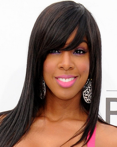 Hairstyles for straight hair weave : Long straight weave hairstyles with bangs for black women