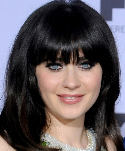 zooey deschanel shoulder length hair