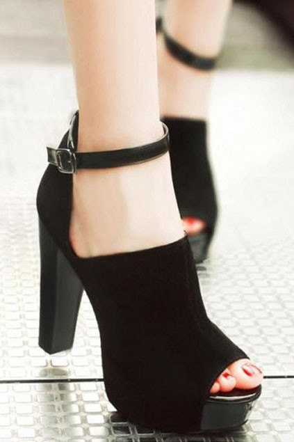 peep-toe pumps with ankle strap