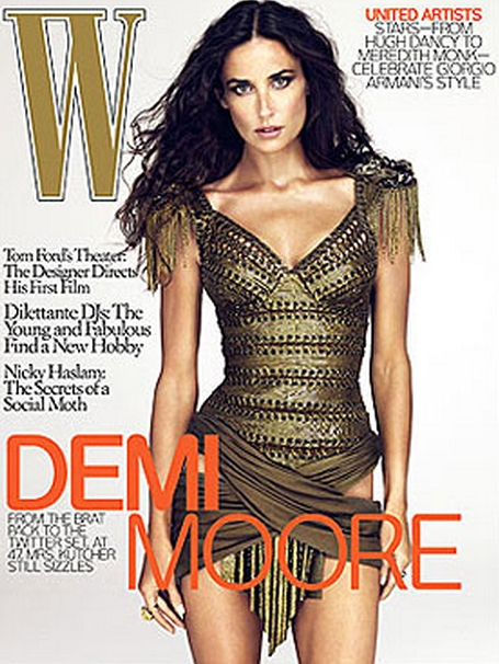 Demi Moore W Magazine Cover