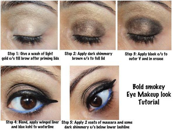 How to apply smokey eye makeup for hazel eyes
