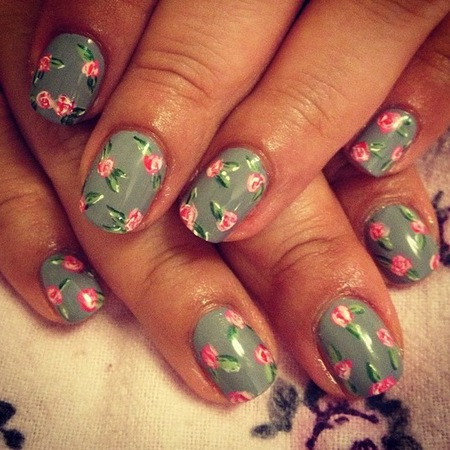 flower-pink-rose-nail-art-designs